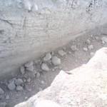 Scavo su roccia dolomitica